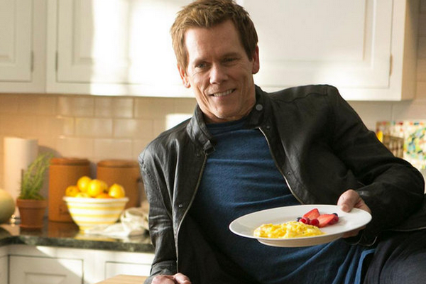 Kevin Bacon Pushing Eggs for Egg Board and egg farmers.