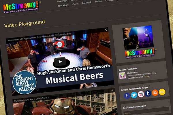 McStreamy Video Playground is our new feature