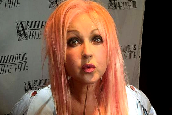 Cyndi Lauper Inducted Into Songwriters Hall Of Fame.
