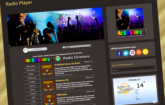 McStreamy.com Internet Radio Directory