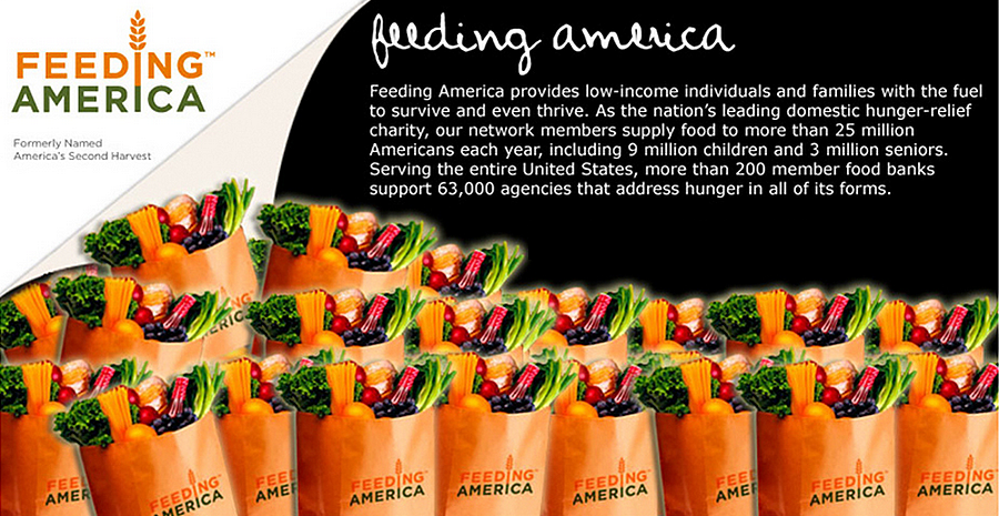 Feeding America is leading domestic relief charity.