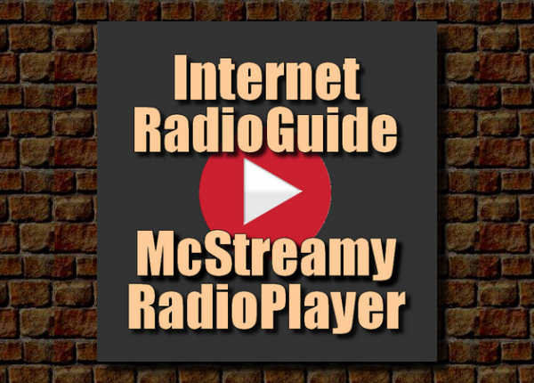 internet-radioguiide-and-mcstreamy-radioplayer_logo-with-red-playbutton_on-brown-brick-wall_beige_900x450
